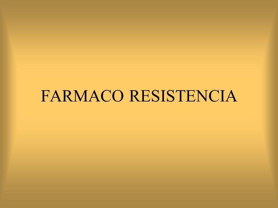 FARMACO RESISTENCIA