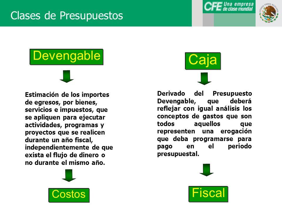 Caja Devengable Fiscal Clases de Presupuestos Costos
