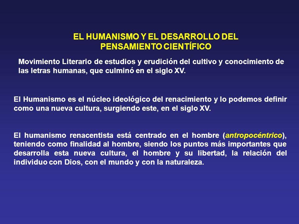 EL HUMANISMO Y EL DESARROLLO DEL PENSAMIENTO CIENTÍFICO