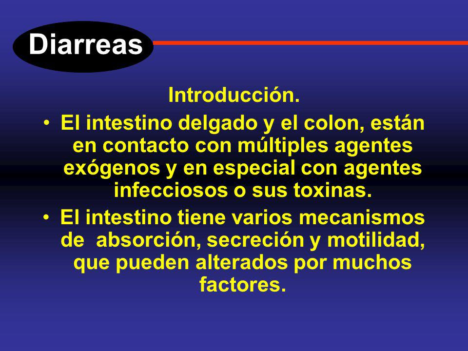 Diarreas Introducción.