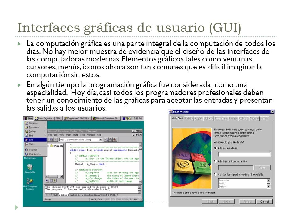 Interfaces gráficas de usuario (GUI)
