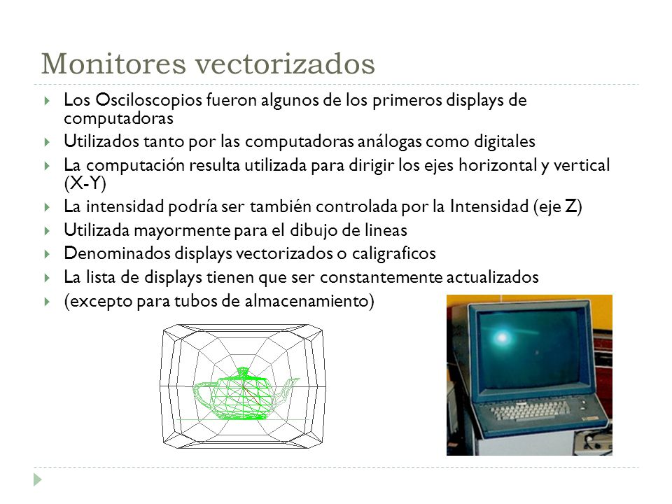 Monitores vectorizados