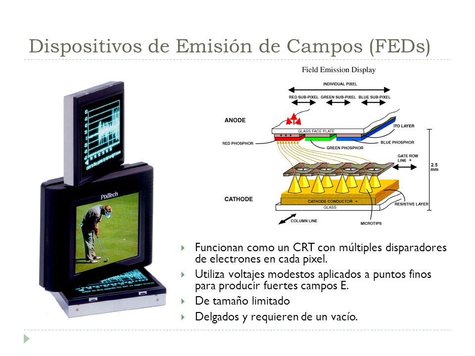 Dispositivos de Emisión de Campos (FEDs)
