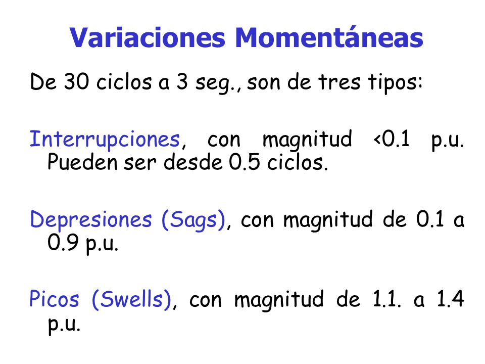 Variaciones Momentáneas