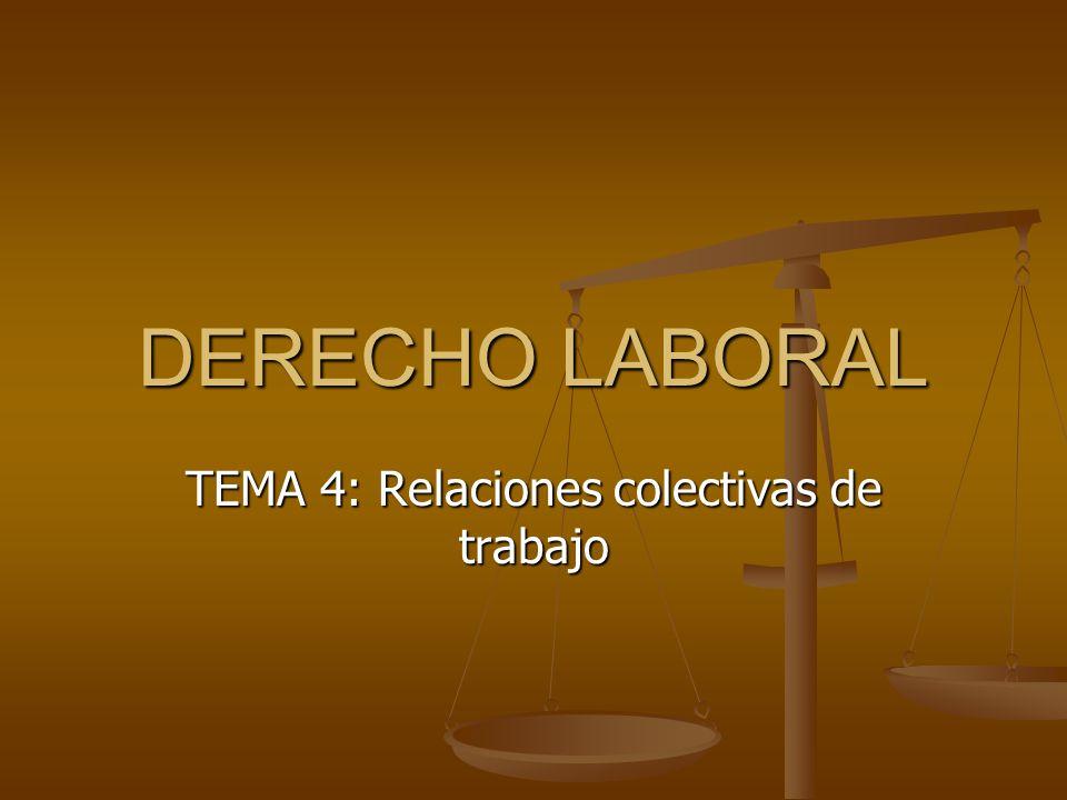 TEMA 4: Relaciones colectivas de trabajo