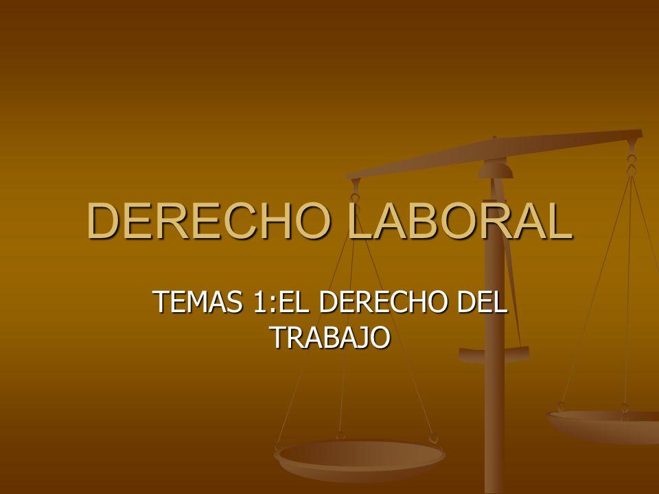 TEMAS 1:EL DERECHO DEL TRABAJO