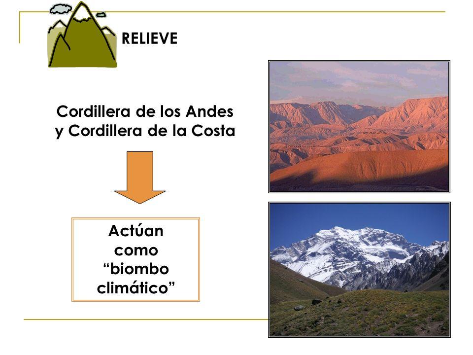 Cordillera de los Andes y Cordillera de la Costa