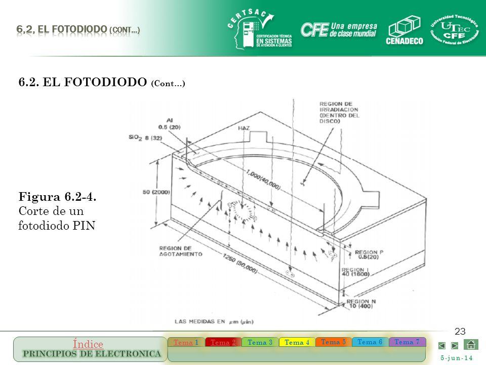 Figura 6.2-4. Corte de un fotodiodo PIN
