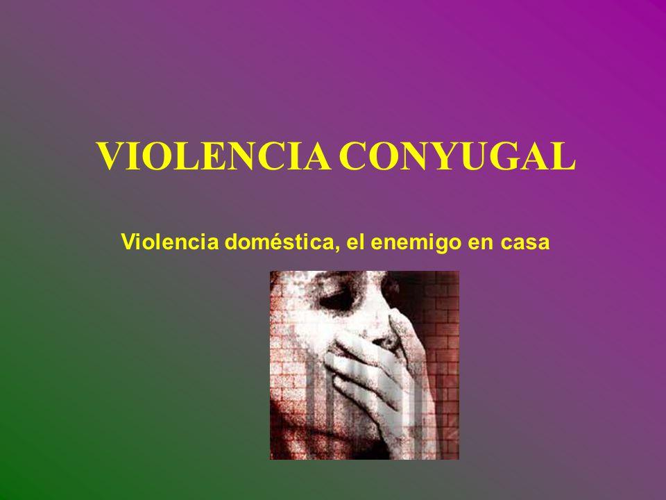 Violencia doméstica, el enemigo en casa