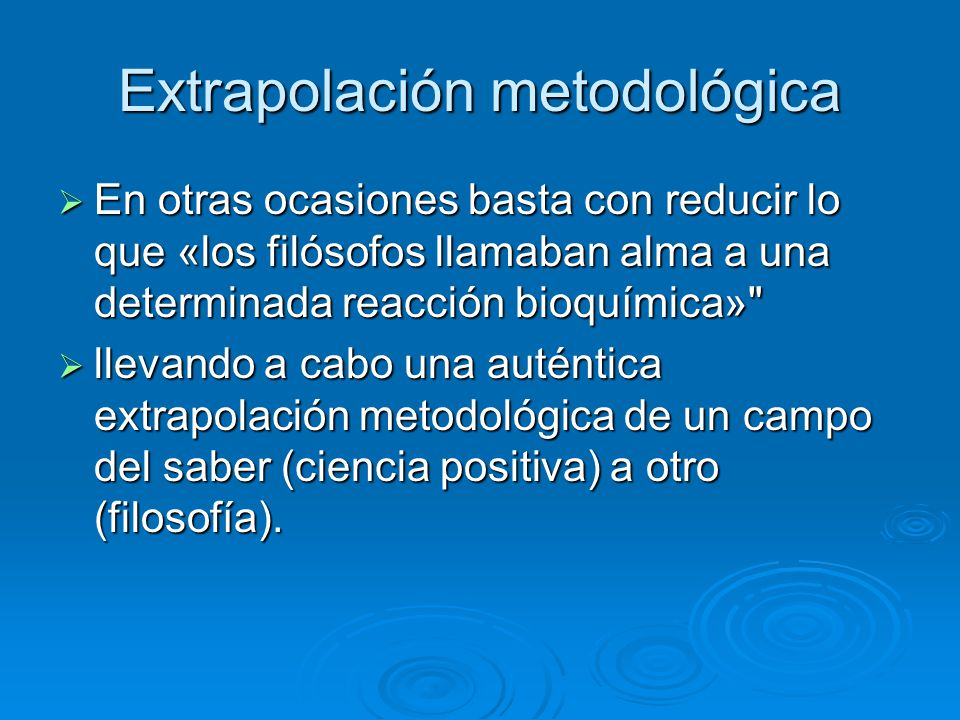 Extrapolación metodológica