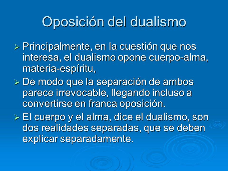 Oposición del dualismo