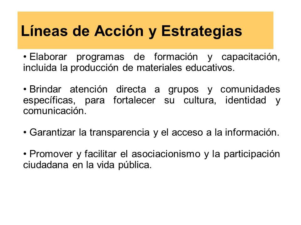 Líneas de Acción y Estrategias