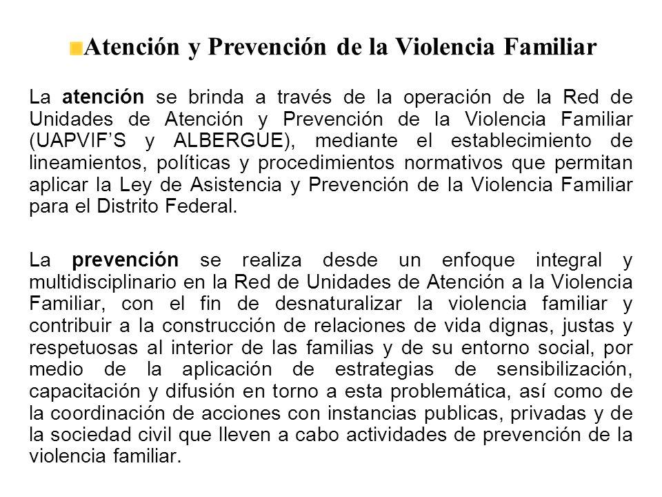 Atención y Prevención de la Violencia Familiar