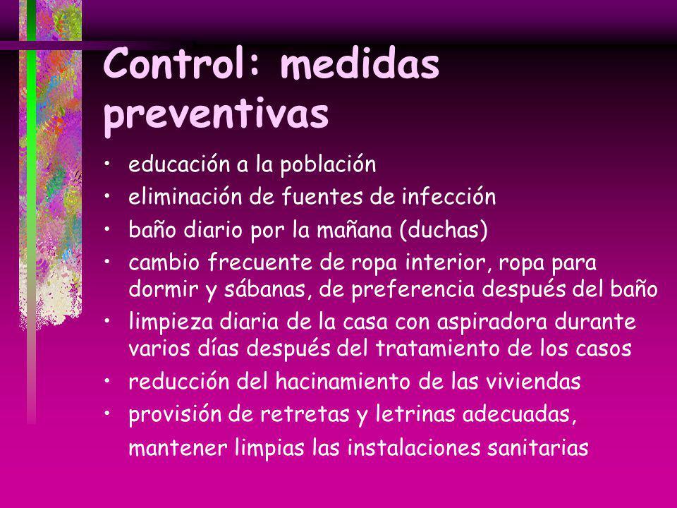 Control: medidas preventivas