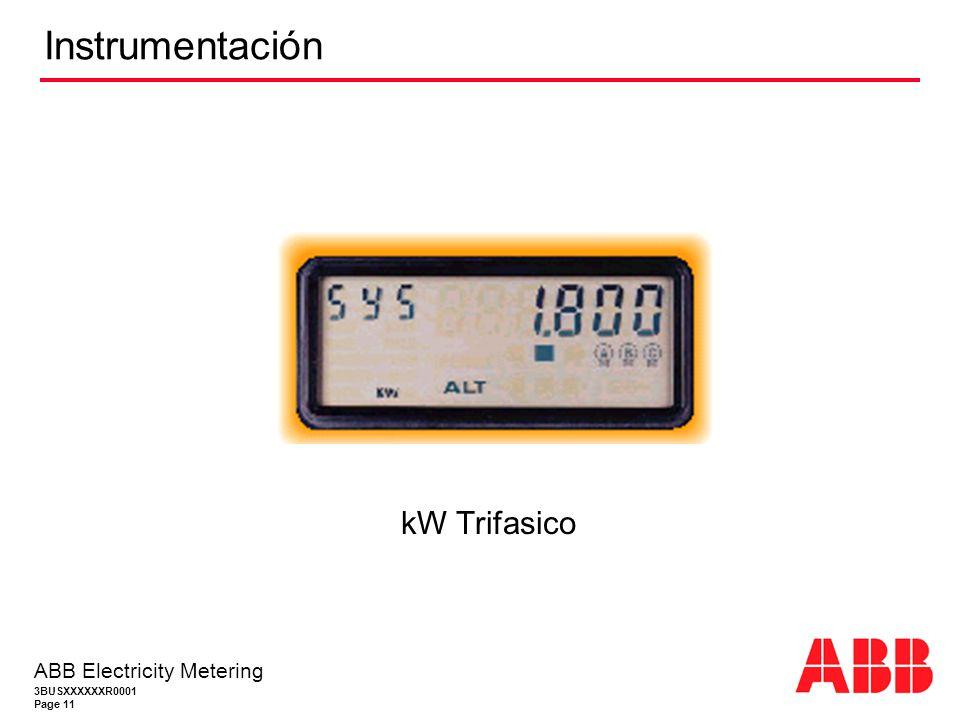 Instrumentación kW Trifasico