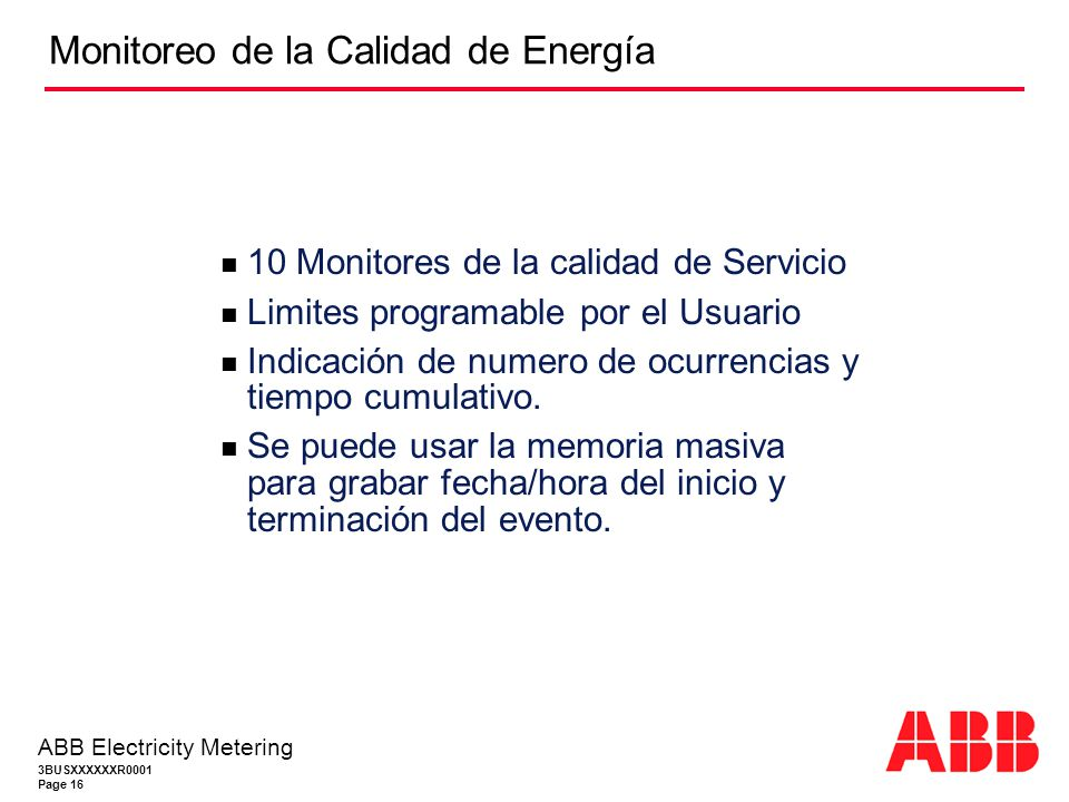 Monitoreo de la Calidad de Energía