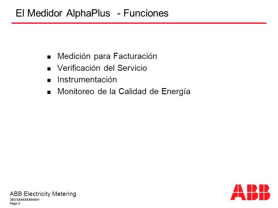 El Medidor AlphaPlus - Funciones