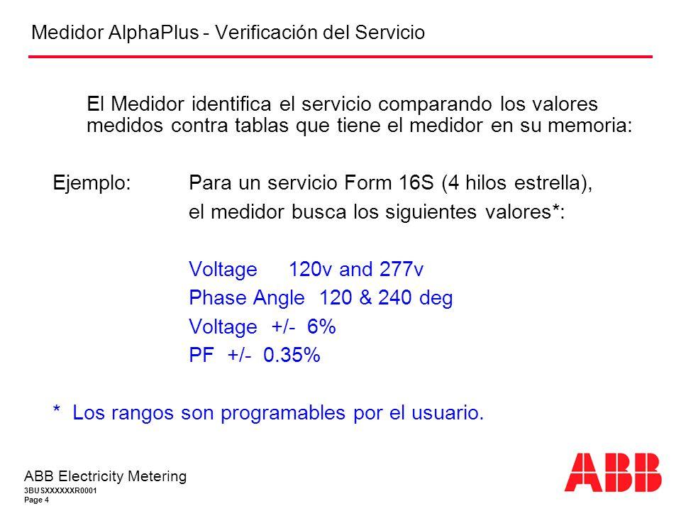 Medidor AlphaPlus - Verificación del Servicio