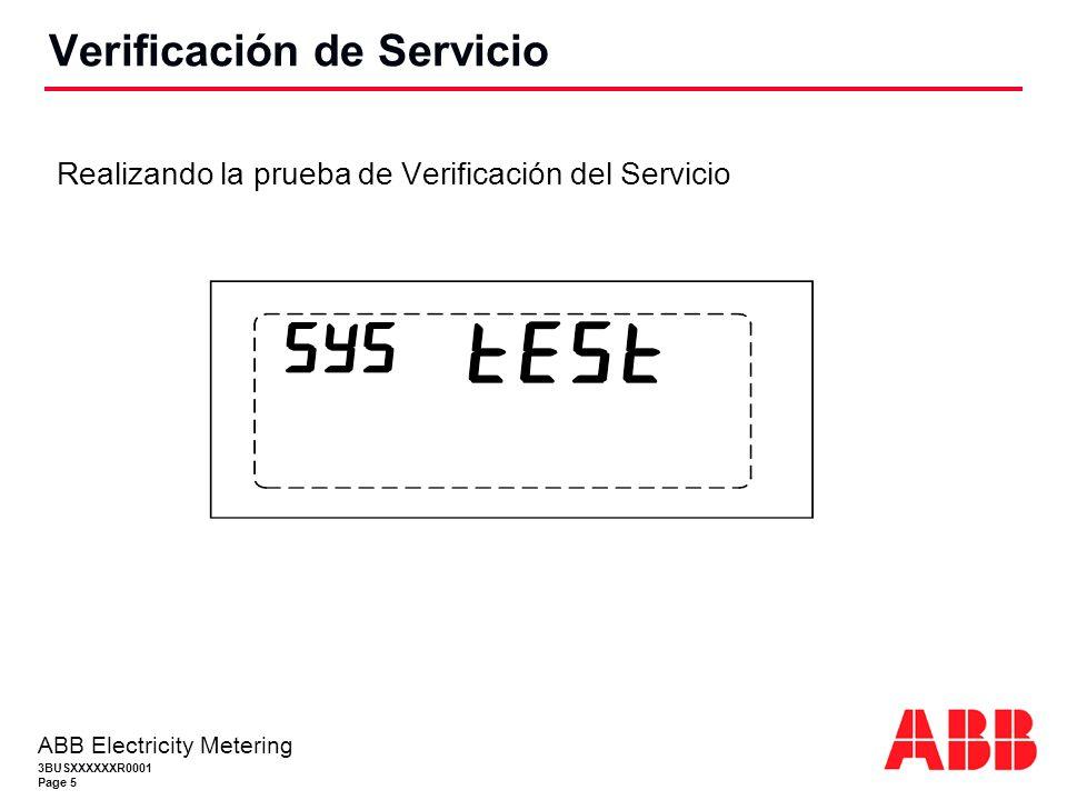 Verificación de Servicio