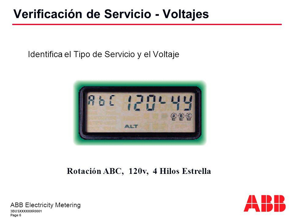 Verificación de Servicio - Voltajes