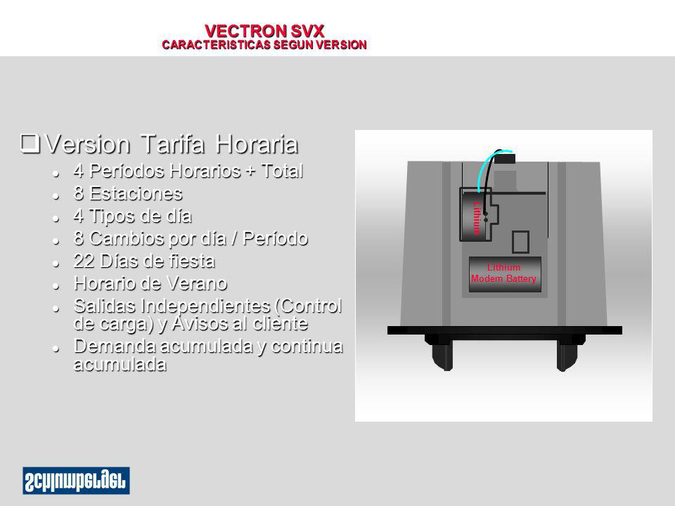 VECTRON SVX CARACTERISTICAS SEGUN VERSION