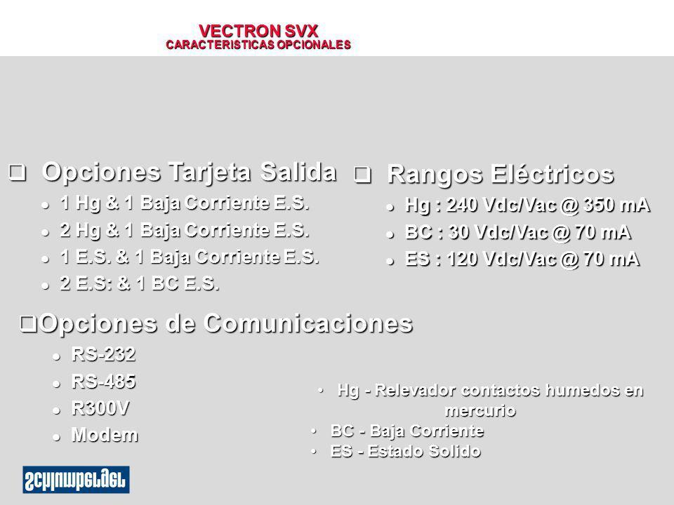 VECTRON SVX CARACTERISTICAS OPCIONALES