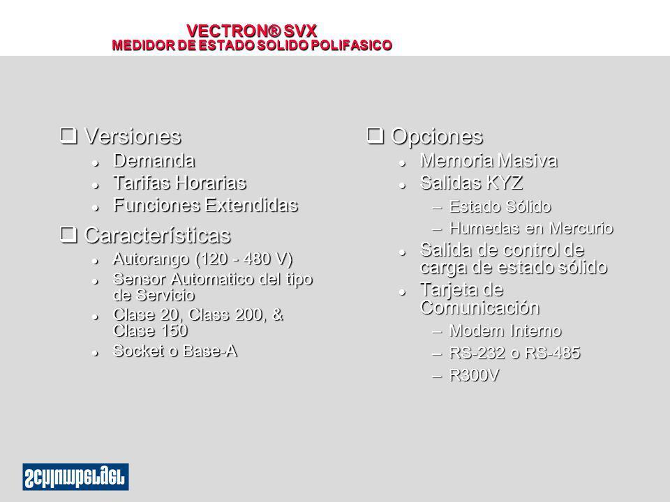 VECTRON® SVX MEDIDOR DE ESTADO SOLIDO POLIFASICO