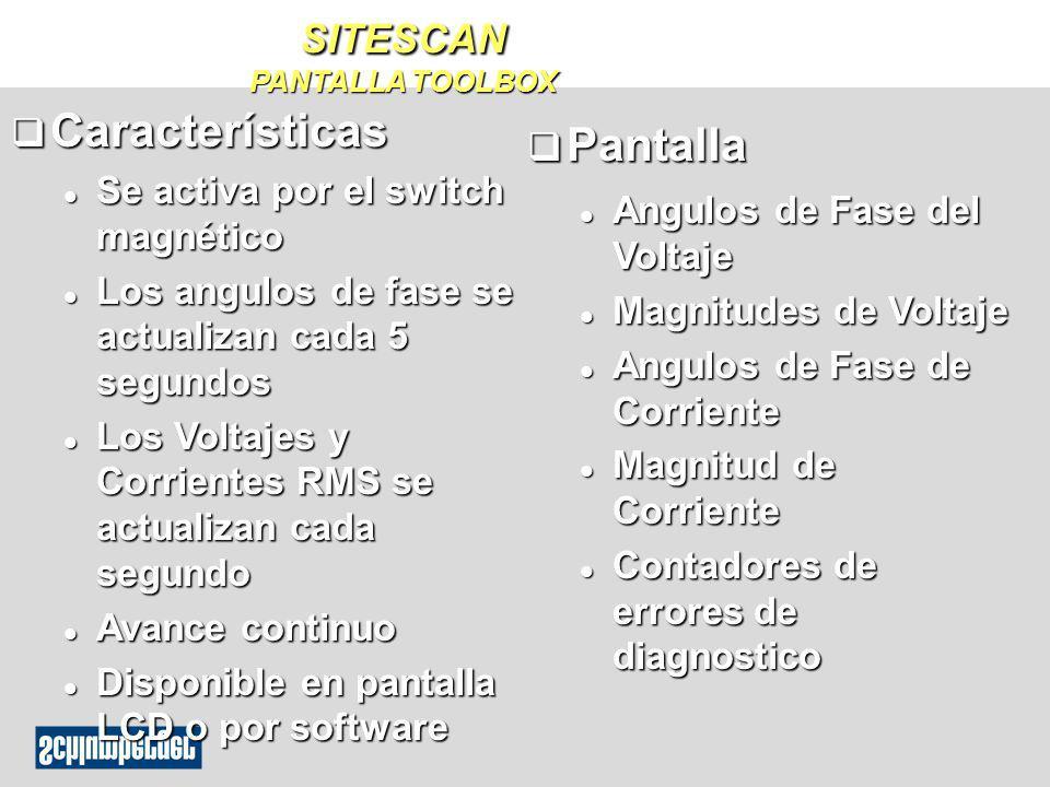 SITESCAN PANTALLA TOOLBOX