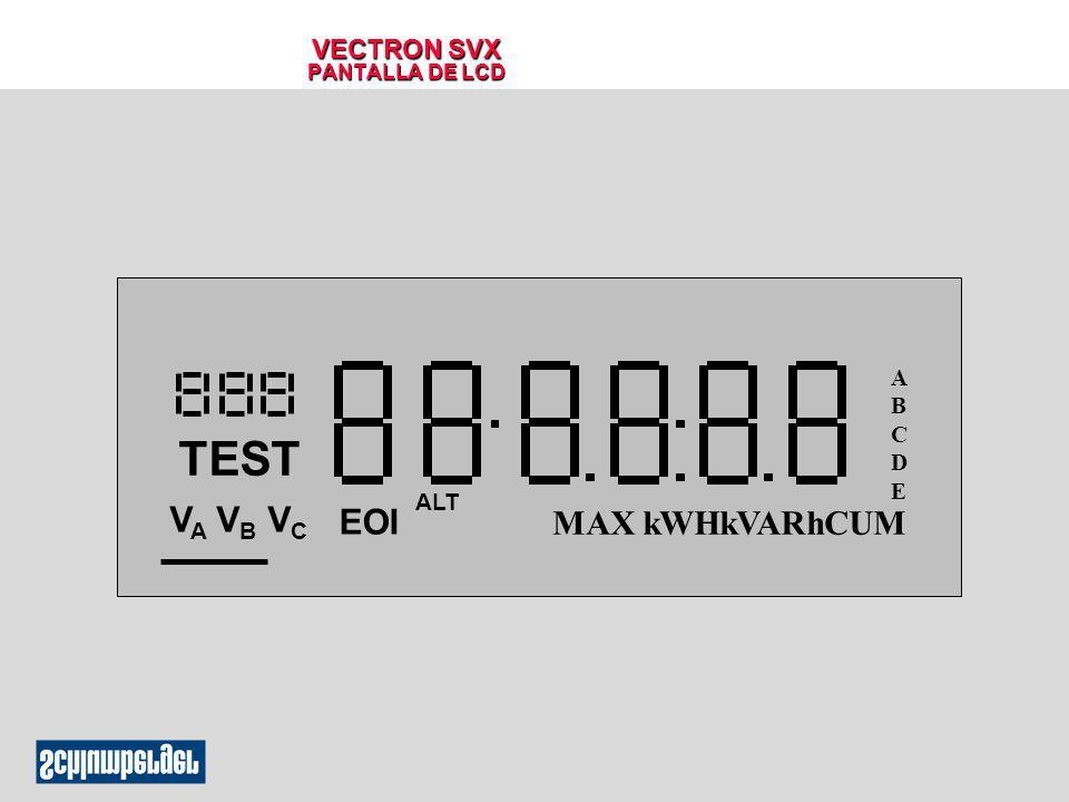 VECTRON SVX PANTALLA DE LCD