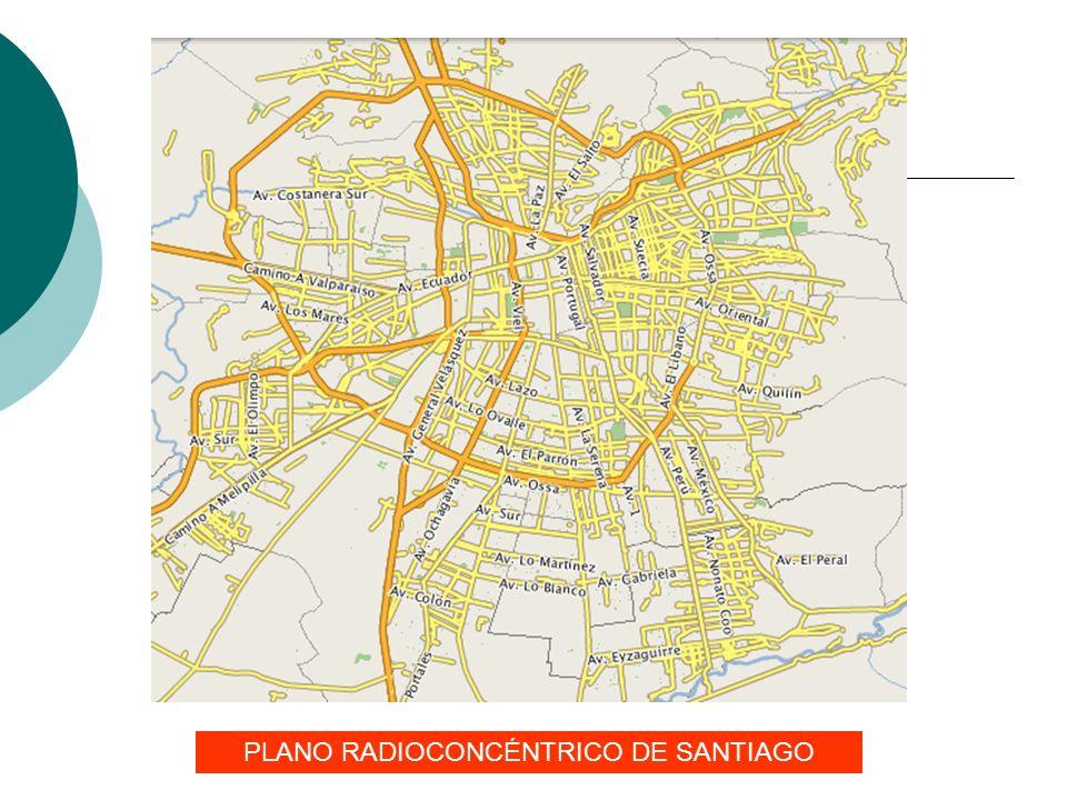 PLANO RADIOCONCÉNTRICO DE SANTIAGO
