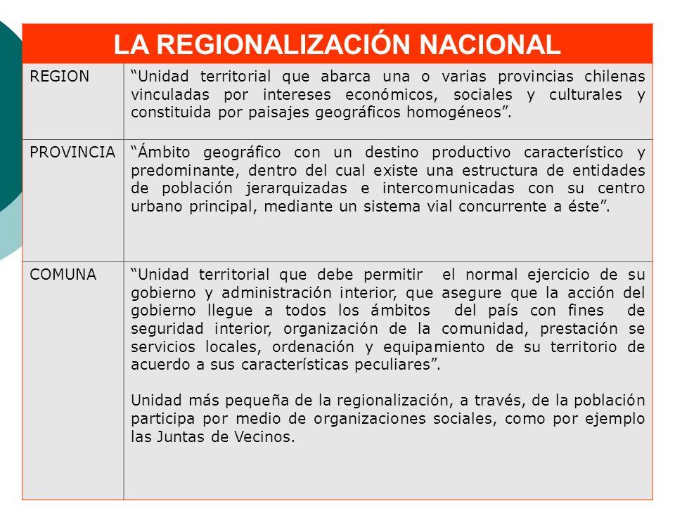 LA REGIONALIZACIÓN NACIONAL