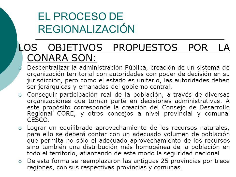EL PROCESO DE REGIONALIZACIÓN