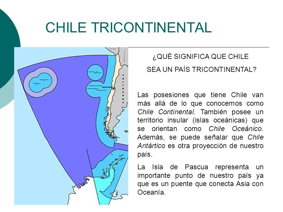 CHILE TRICONTINENTAL ¿QUÉ SIGNIFICA QUE CHILE