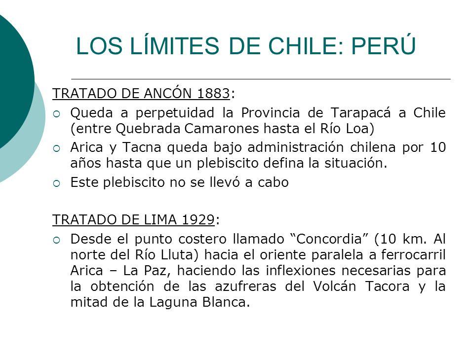 LOS LÍMITES DE CHILE: PERÚ