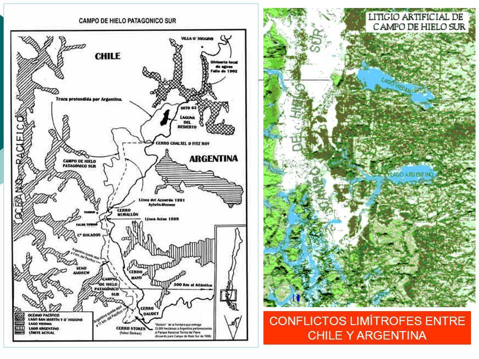 CONFLICTOS LIMÍTROFES ENTRE CHILE Y ARGENTINA