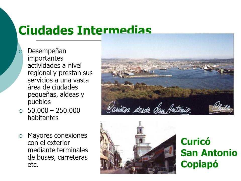 Ciudades Intermedias Curicó San Antonio Copiapó