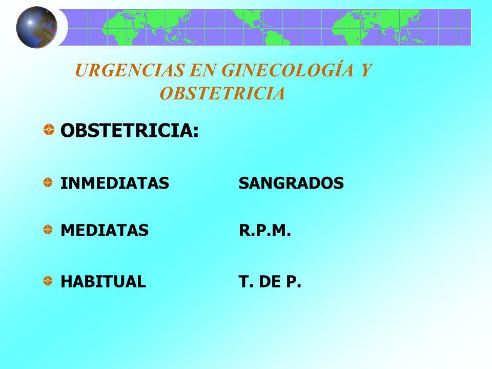 URGENCIAS EN GINECOLOGÍA Y OBSTETRICIA