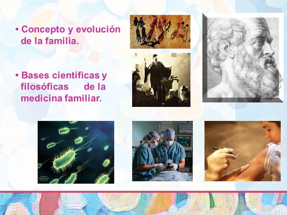 • Concepto y evolución de la familia.