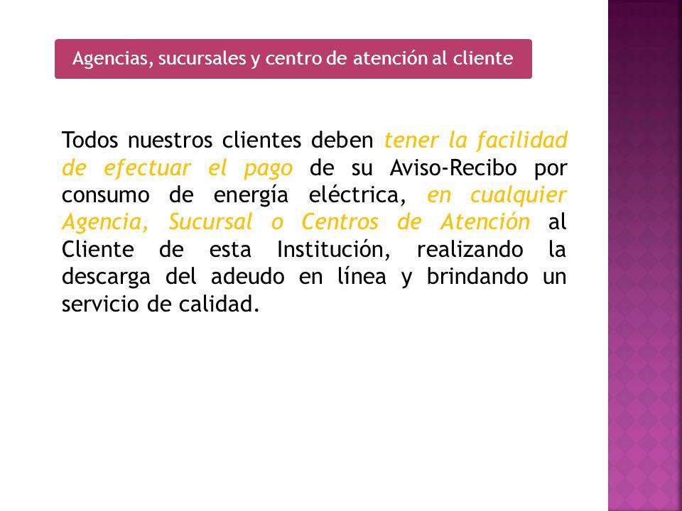 Agencias, sucursales y centro de atención al cliente
