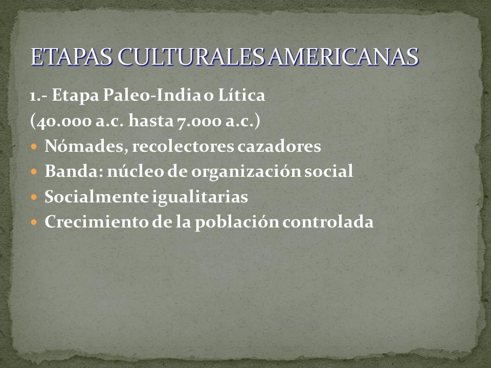 ETAPAS CULTURALES AMERICANAS