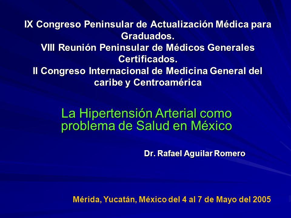 La Hipertensión Arterial como problema de Salud en México