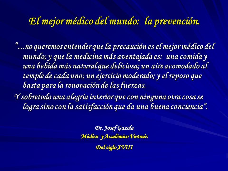 El mejor médico del mundo: la prevención.