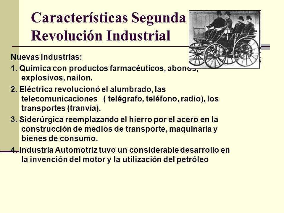 Características Segunda Revolución Industrial