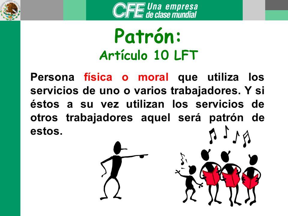 Patrón: Artículo 10 LFT.
