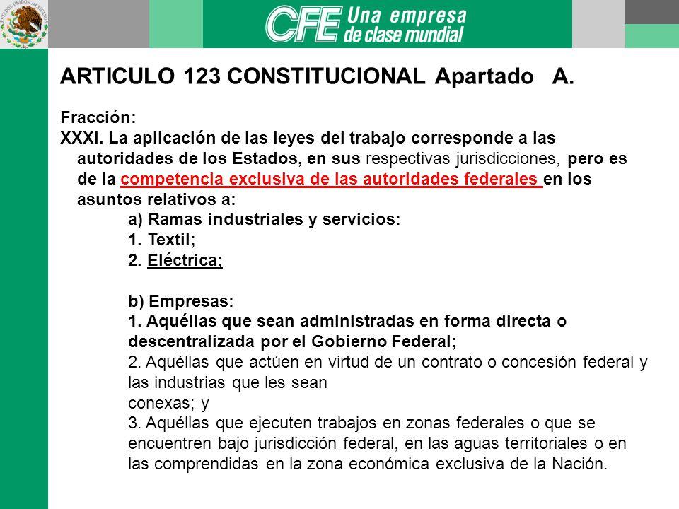 ARTICULO 123 CONSTITUCIONAL Apartado A.