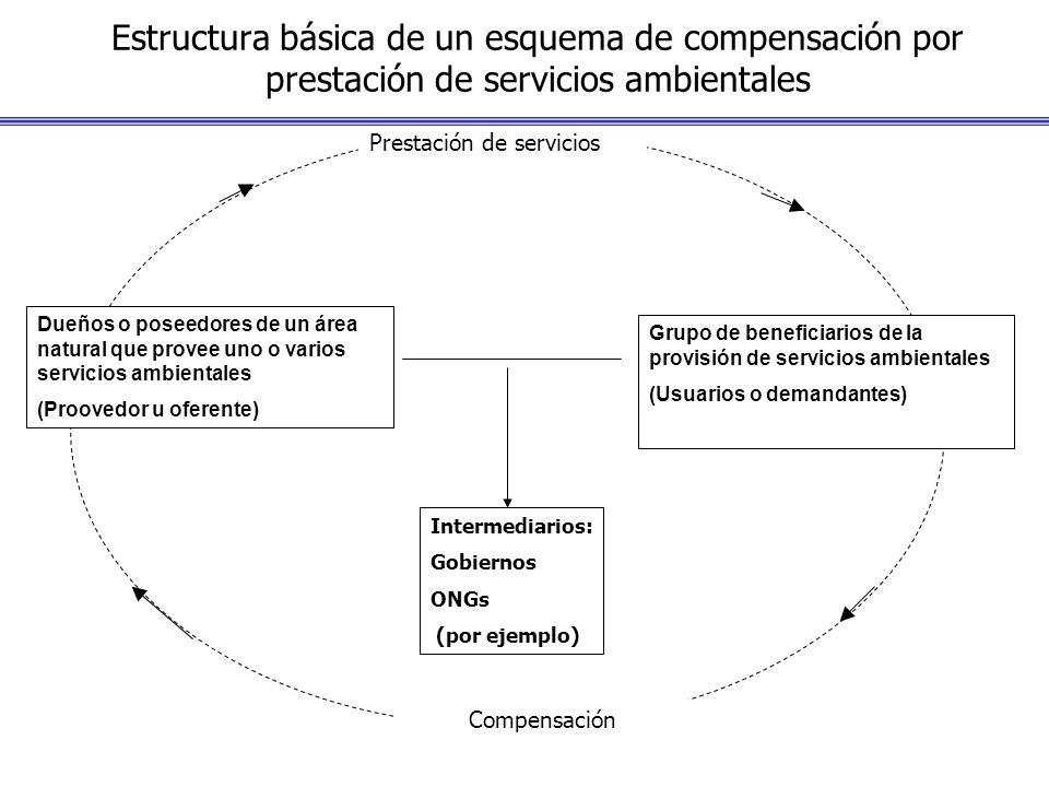 Estructura básica de un esquema de compensación por prestación de servicios ambientales