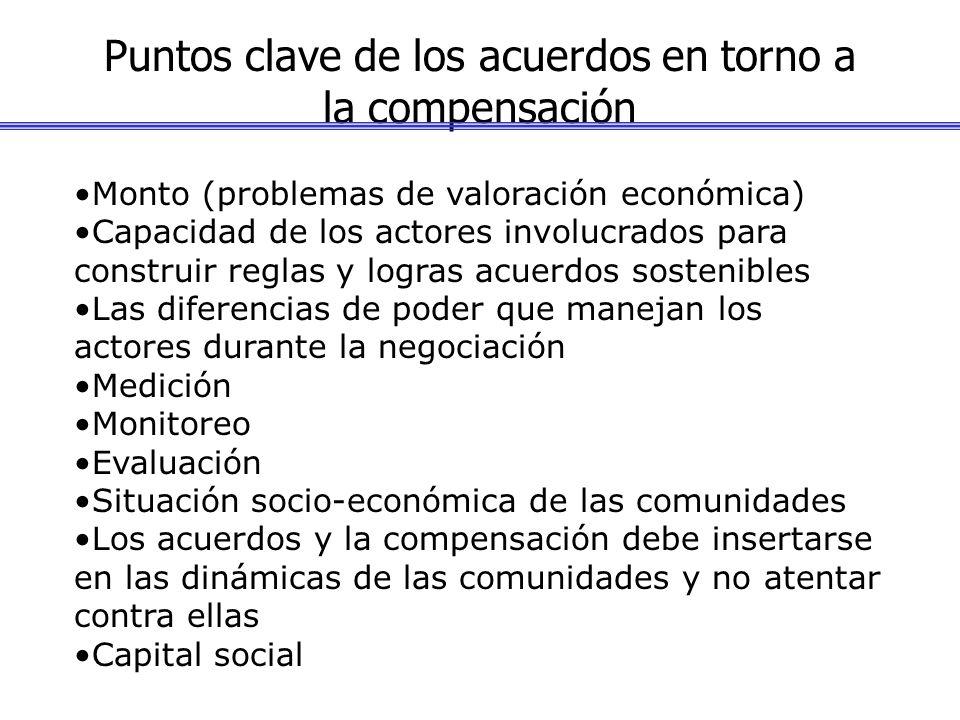 Puntos clave de los acuerdos en torno a la compensación