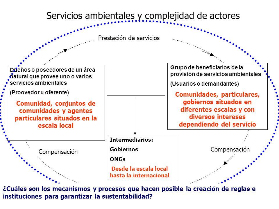 Servicios ambientales y complejidad de actores