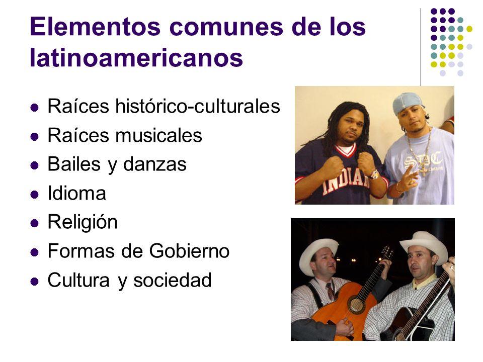 Elementos comunes de los latinoamericanos