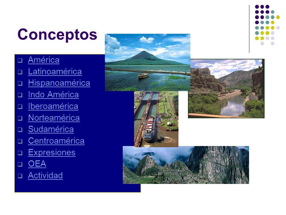 Conceptos América Latinoamérica Hispanoamérica Indo América